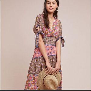 Anthropologie Eder tiered maxi dress size 12